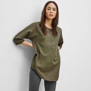 ARITZIA COMMUNITY | Olive Green Button Tunic